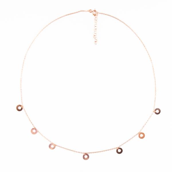 Halskette | Rosegold Discs | Rosegold